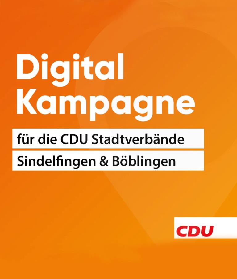 Wahlkampf CDU Böblingen